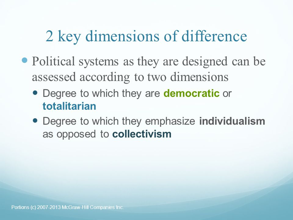 2 key dimensions of difference