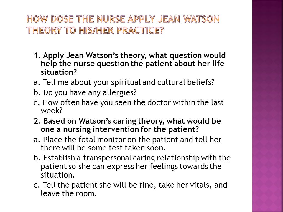 jean watson influence nursing research