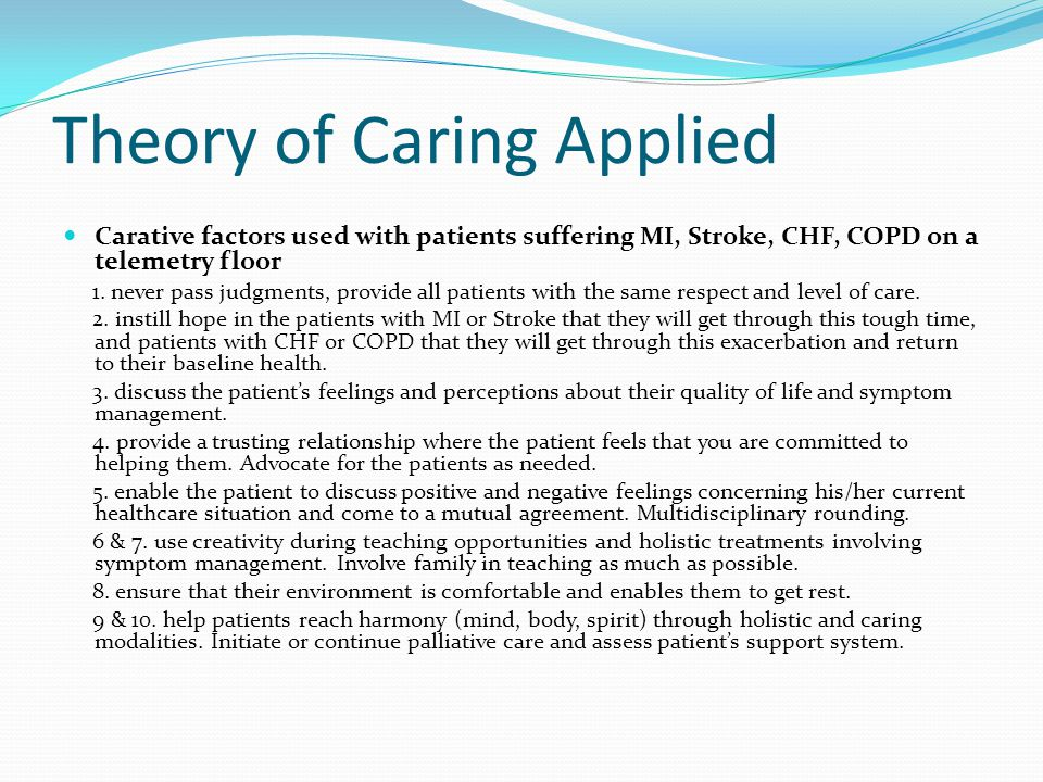Jean Watson S Theory Of Caring Ppt Video Online Download