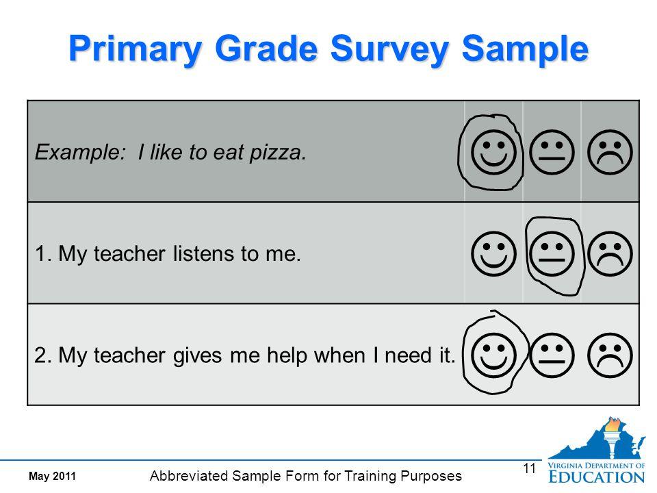 sample training survey