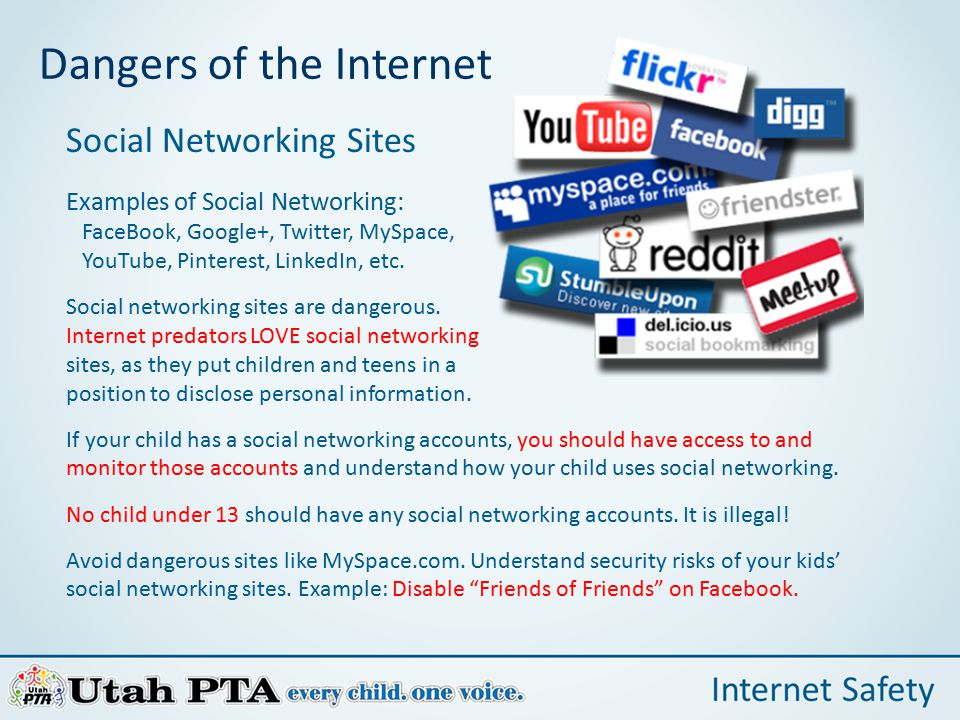 kids and the dangers of social networking media essay Social networks can make predictions about people, based on information from   when you share your contact list to a social network, that.