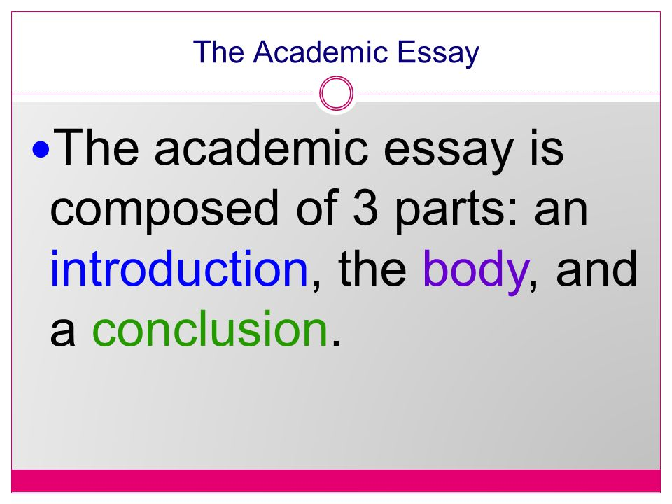 introduction to an academic essay It is important to write the introduction and the conclusion in one essaypedia  academic writing editing / proofreading admission essay conclusion (you do .