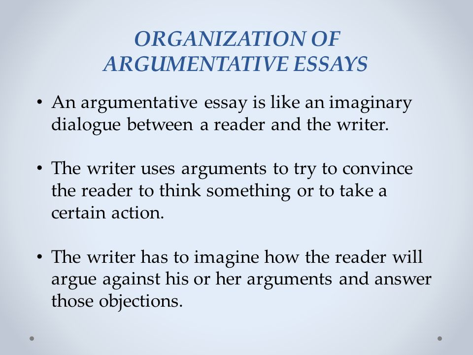 argumentative essay ppt video online  organization of argumentative essays
