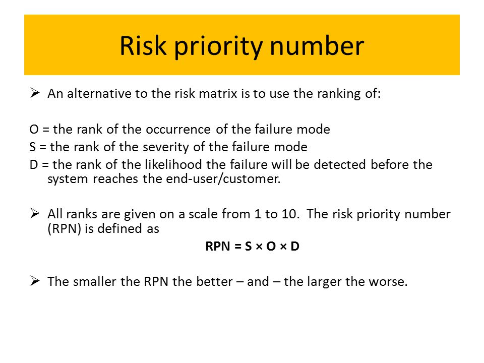 how to read a risk matrix