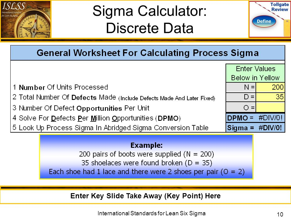 Measure Phase Lean Six Sigma Measure Phase Tollgate Review ppt – Parts Per Million Worksheet