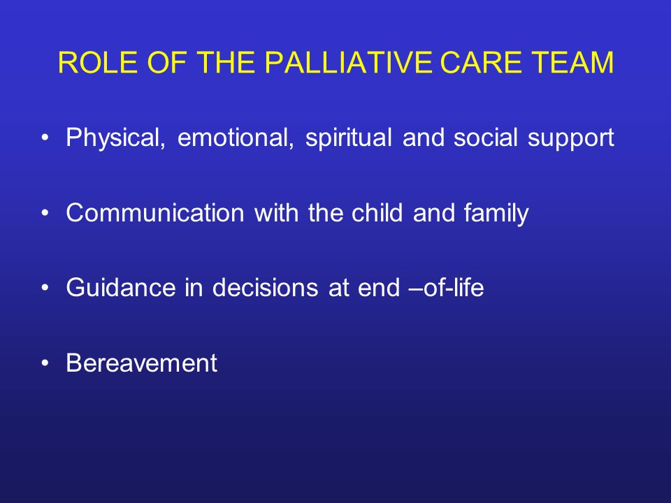 discussing communications role in palliative care Role of communication in a health care objective of communication the aim of communication involves the study and use of communication strategies to inform and influence individual and community decisions that enhance health.