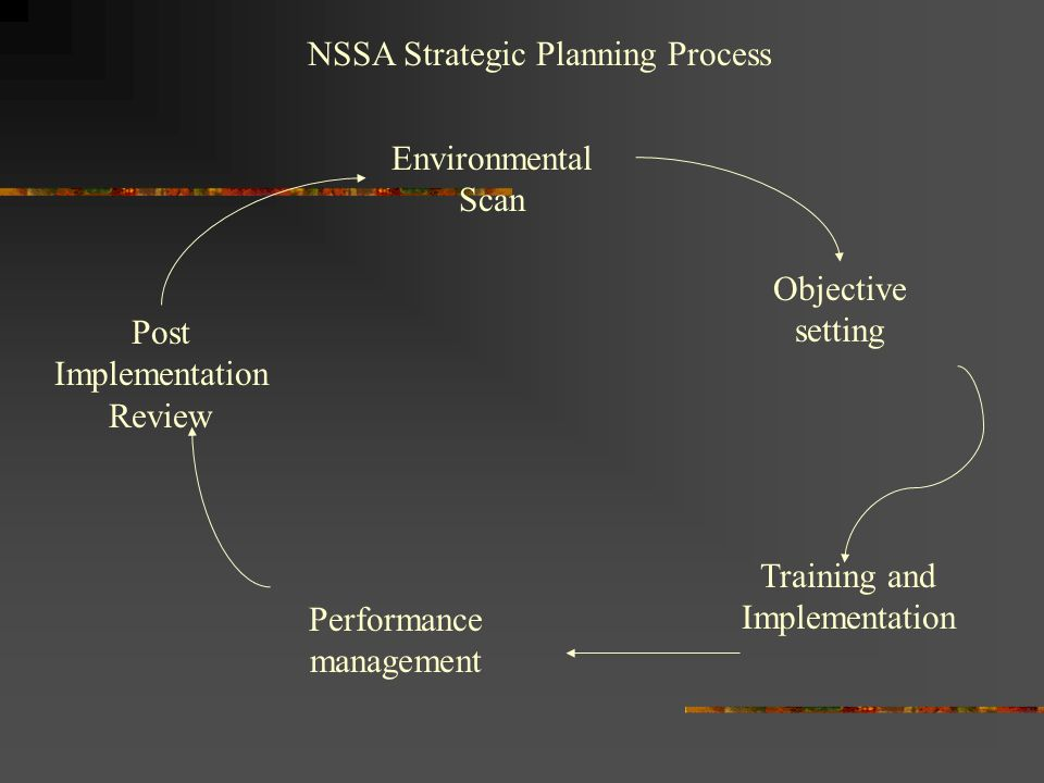 NSSA Strategic Planning Process