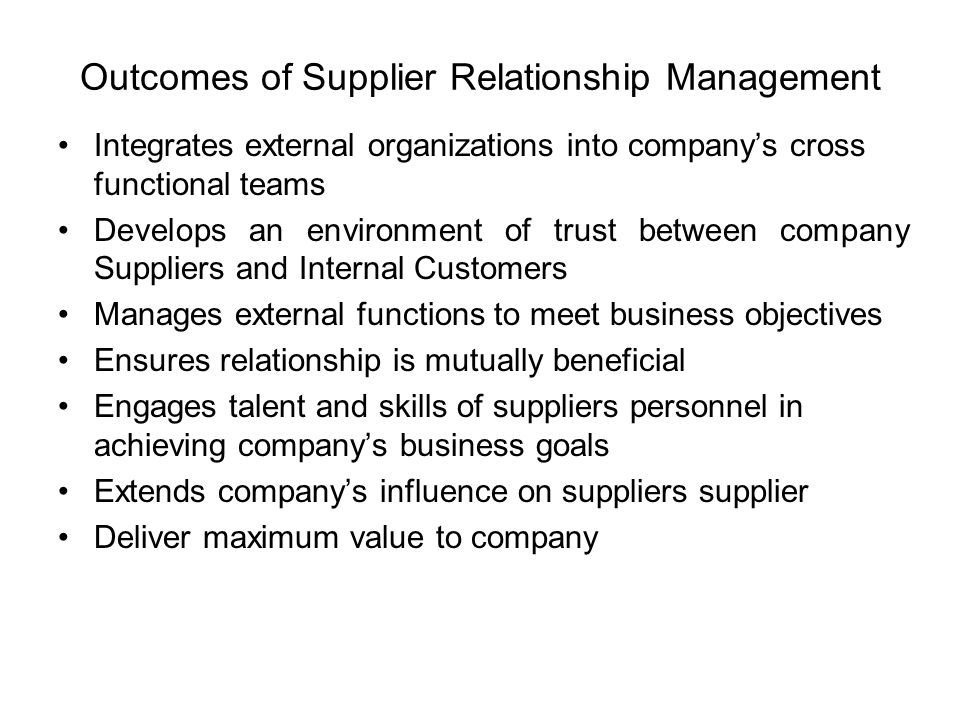 relationship between company and supplier