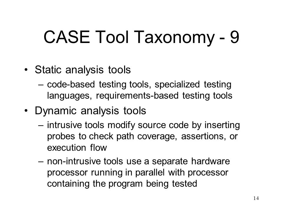 static and dynamic testing tools pdf