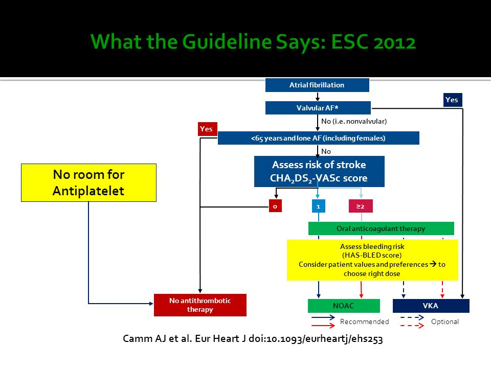 What the Guideline Says: ESC 2012