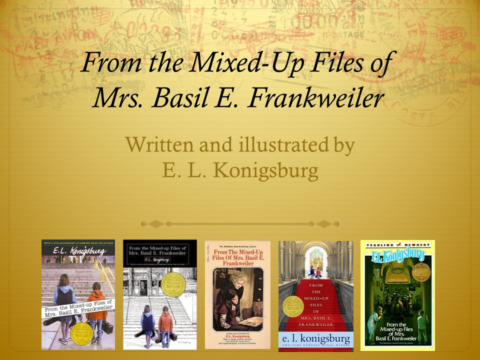 mixedup files of mrs basil e Word lists, definitions, and example sentences for from the mixed-up files of mrs  basil e frankweiler from vocabularycom share.