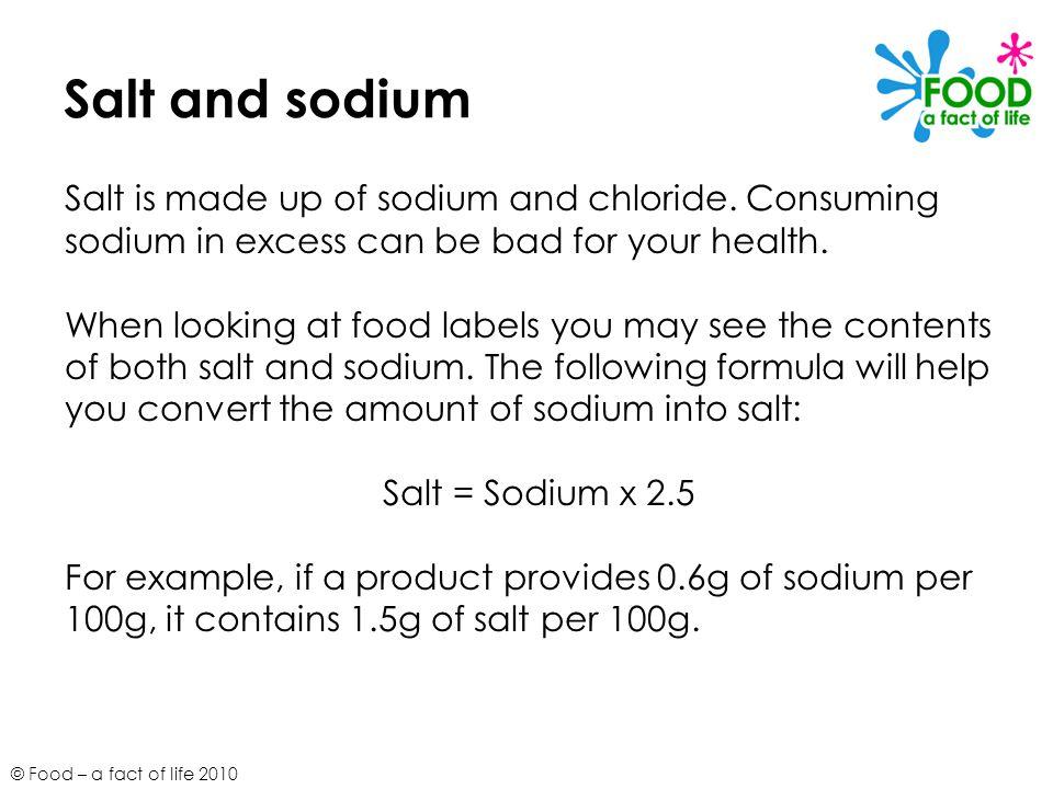 is sodium salt