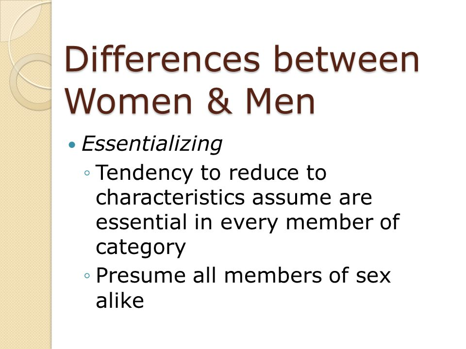 Differences Between Women U0026 Men