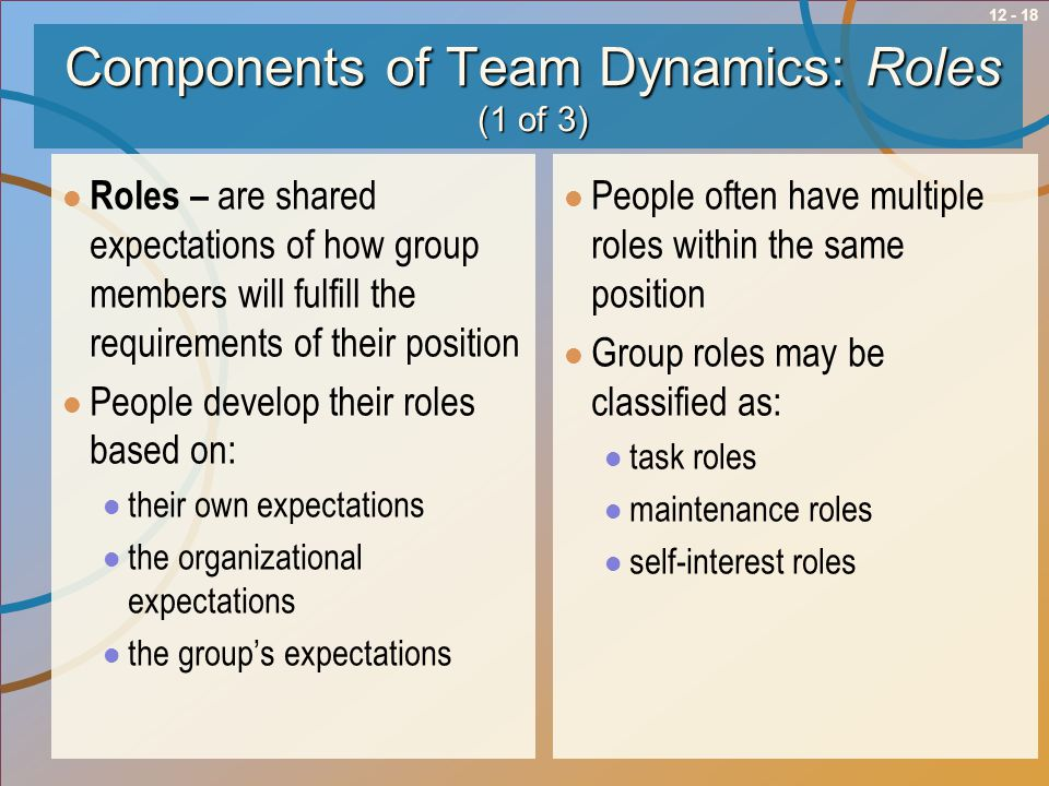 Components of Team Dynamics: Roles (1 of 3)