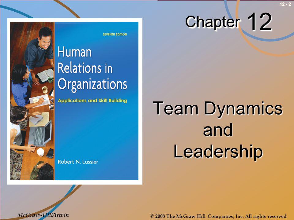 Team Dynamics and Leadership