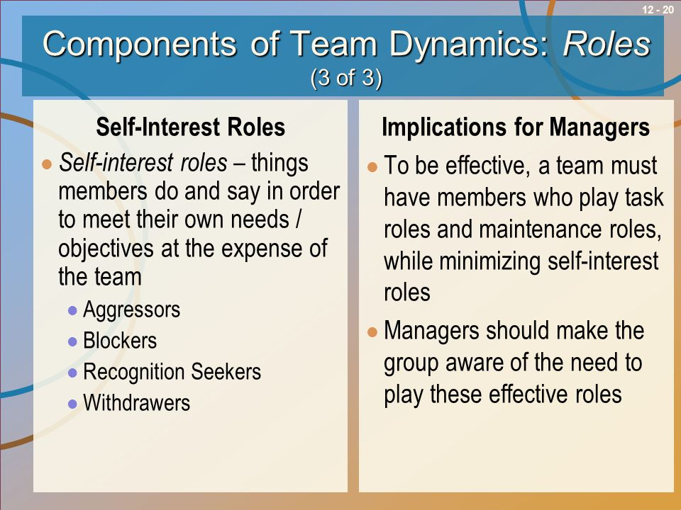 Components of Team Dynamics: Roles (3 of 3)