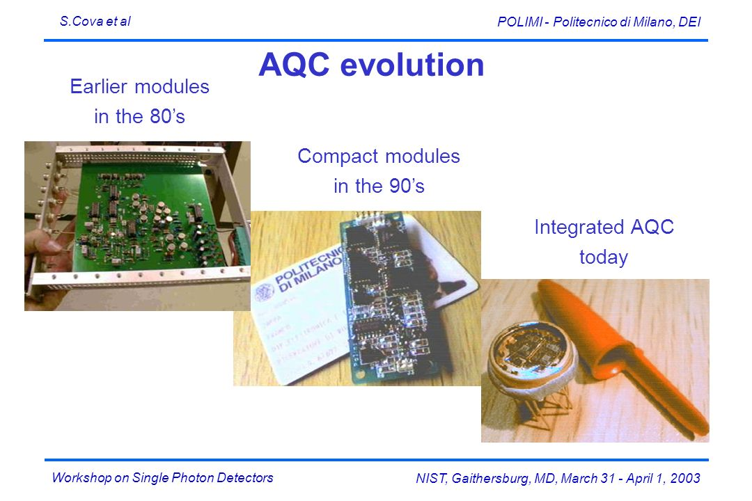 AQC evolution Earlier modules in the 80's Compact modules in the 90's