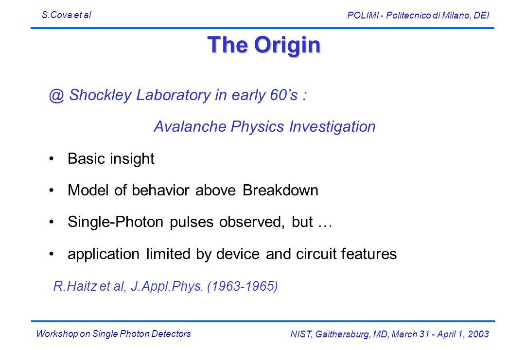 Avalanche Physics Investigation