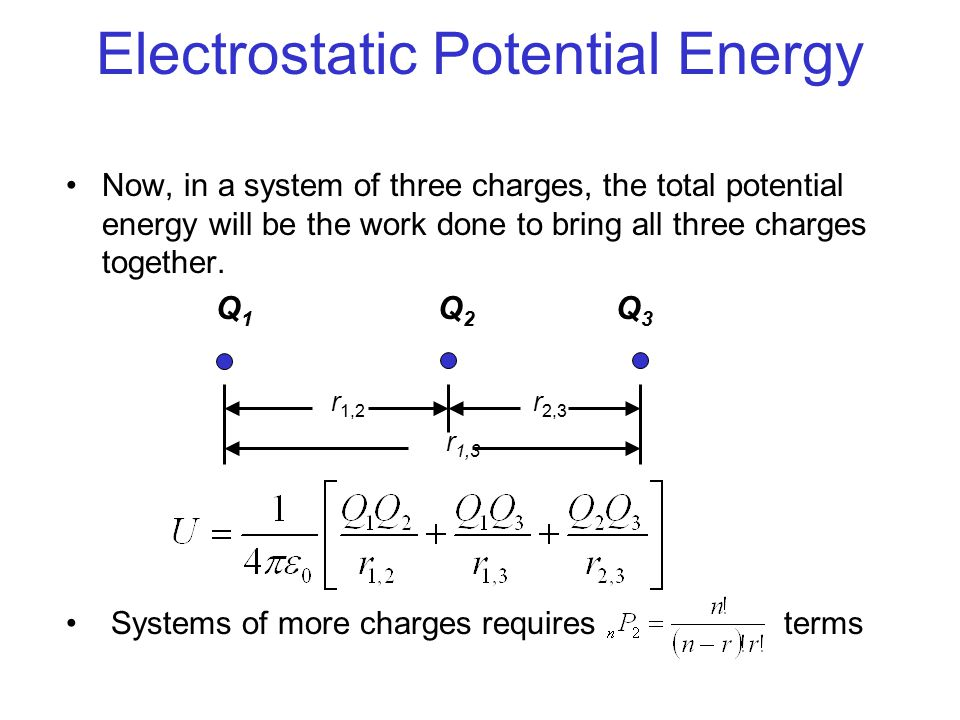 how to find change in potential energy of a charge