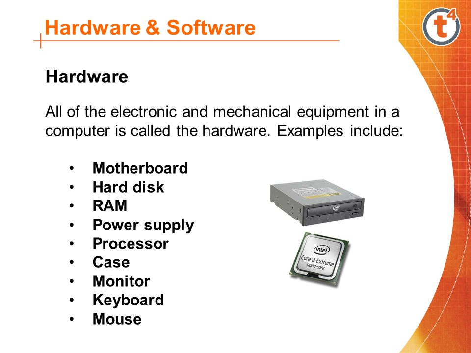 hardware and software system Software providers hardware providers system provider one shadow copy provider, the system provider, is supplied as a default part of a windows operating system.