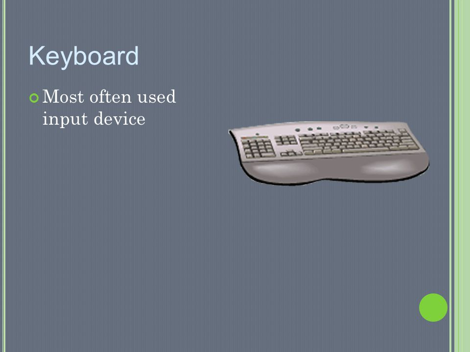 Keyboard Most often used input device