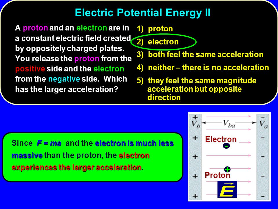 Electric Potential Energy II