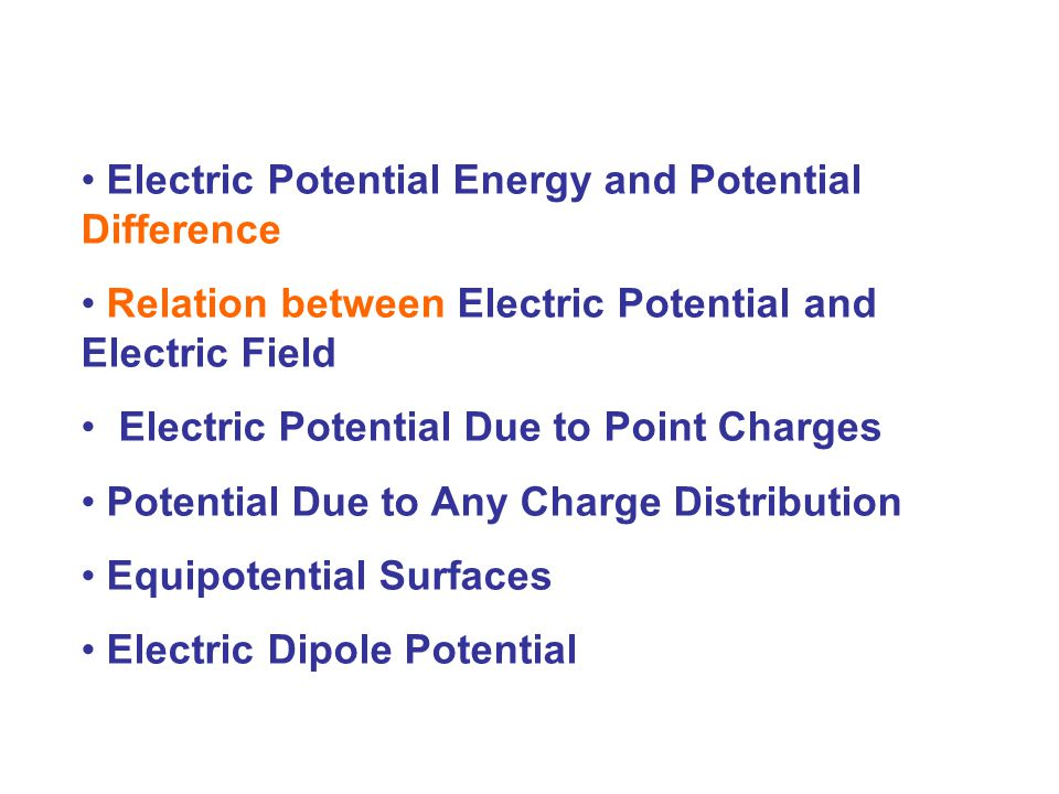 Electric Potential Energy and Potential Difference