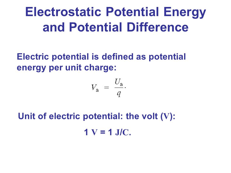 Electrostatic Potential Energy and Potential Difference