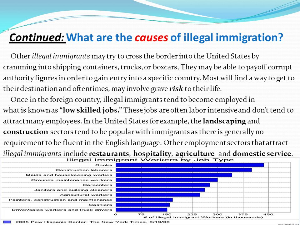 illegal immigration into the united states Throughout the 1980s and 1990s, illegal immigration was a constant source of political debate, as immigrants continue to pour into the united states, mostly by land routes through canada and .