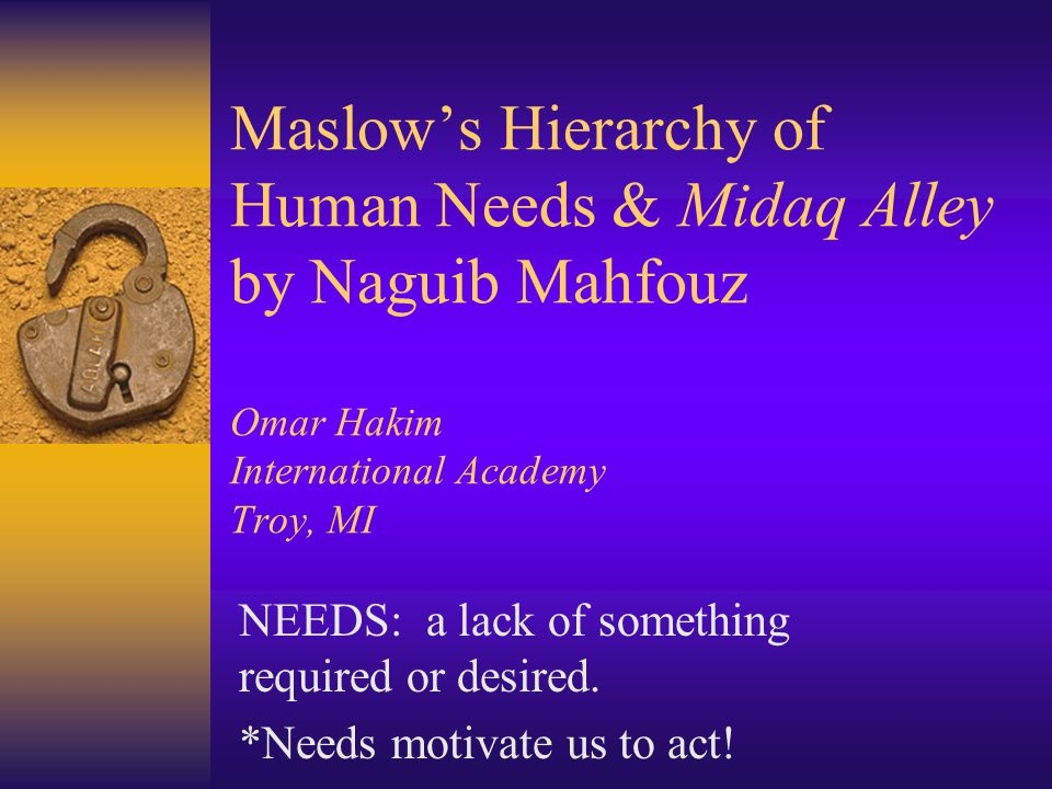 midaq alley naguib mahfouz Widely acclaimed as naguib mahfouz's best novel, midaq alley brings to life one of the hustling, teeming back alleys of cairo in the 1940s from zaita the cripple-maker to kirsha the hedonistic cafe owner, from abbas the barber who mistakes greed .