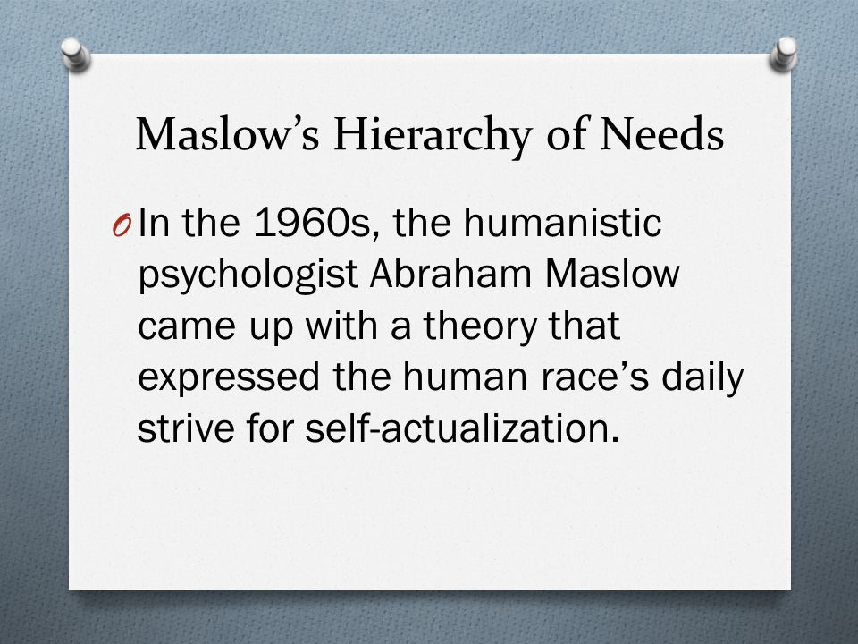 maslow's theory of human needs Maslow's hierarchy of needs is viewed and used daily, whether we realize it or not this is why maslow's theory of our human needs are of importance.