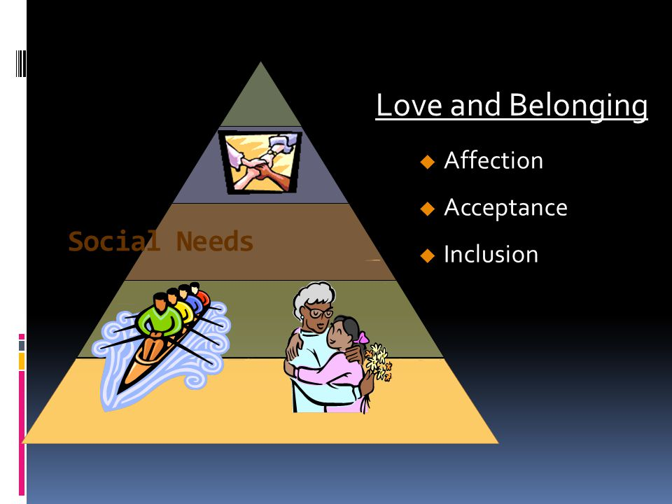 Love and Belonging Affection Acceptance Inclusion Social Needs