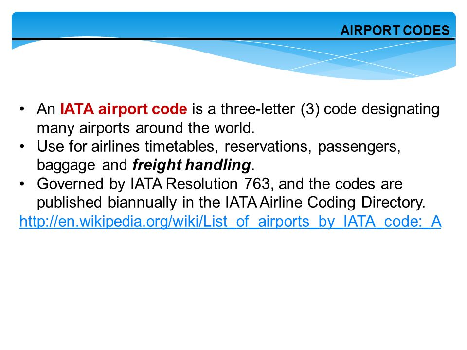 International transport and logistics ppt download 13 airport codes sciox Image collections