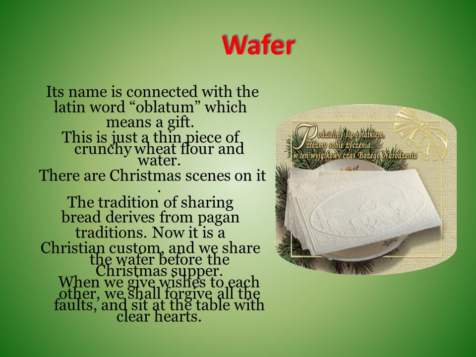 Polish traditions and Christmas customs - ppt download