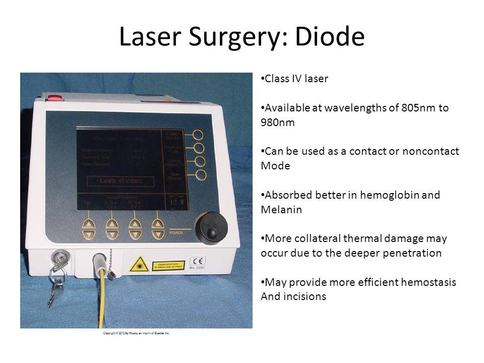 Laser Surgery: Diode Class IV laser