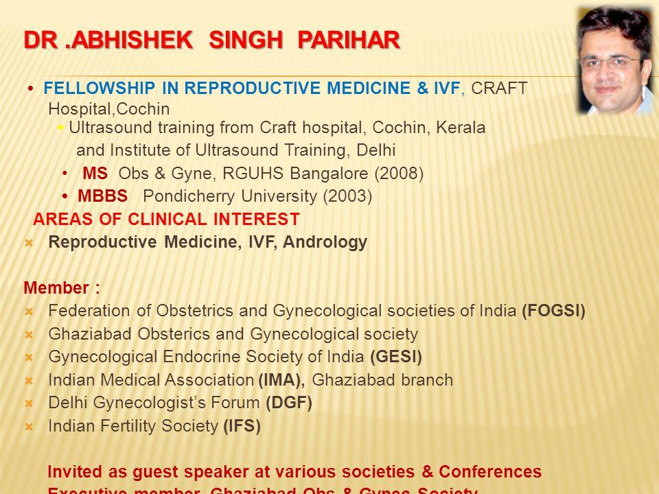 DR  ABHISHEK SINGH PARIHAR