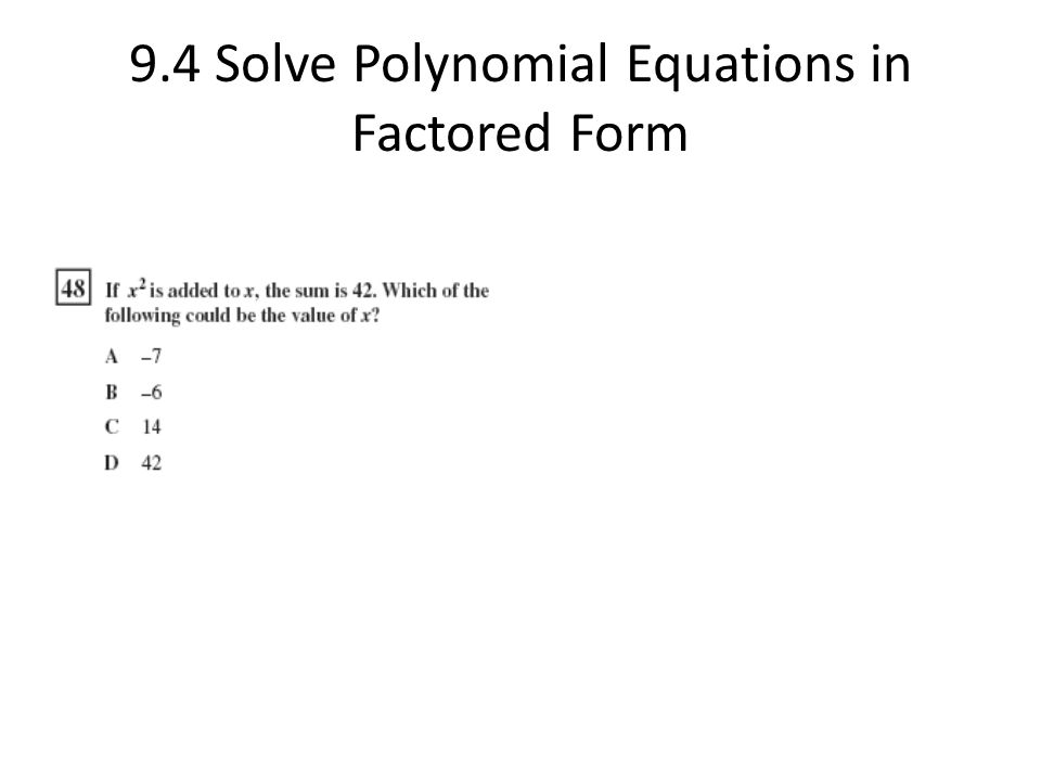 polynomial and factored form Factoring a quadratic polynomial in one variable is straightforward but the  wolfram  of polynomials hornerform — rearrange a polynomial into horner  form.