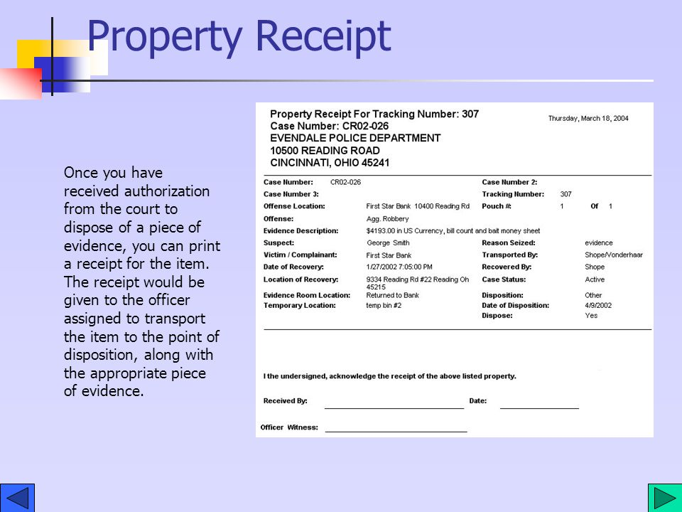 Disposition Property Law