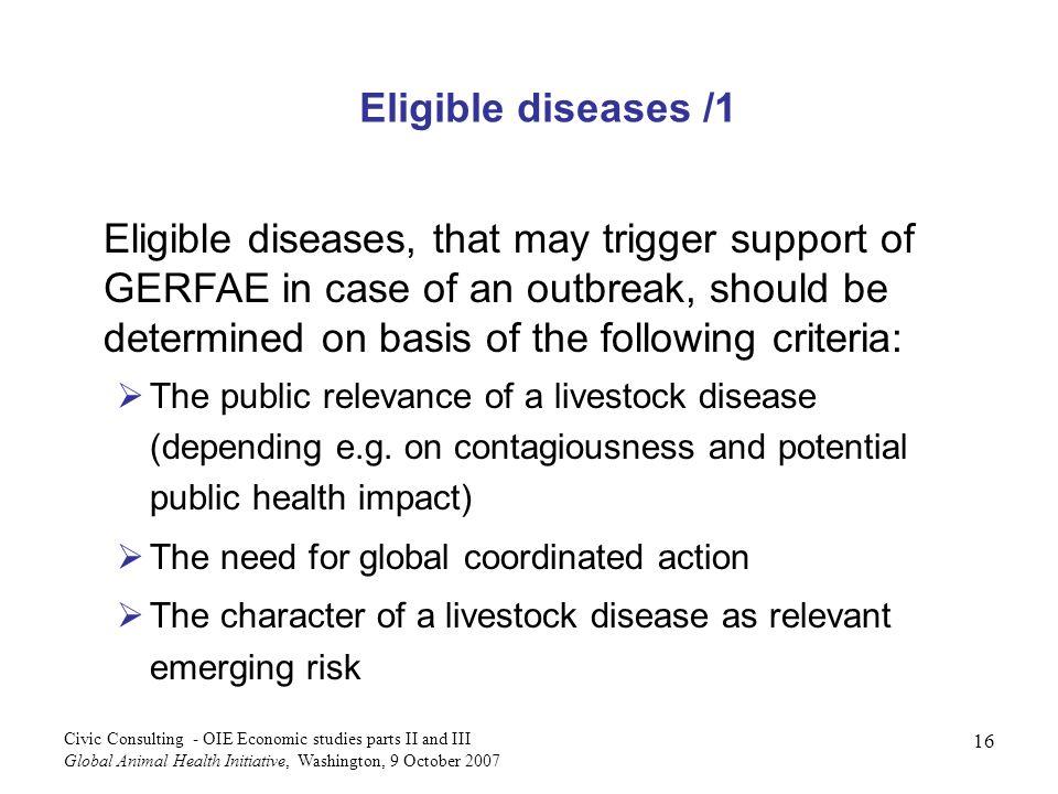 Eligible diseases /1