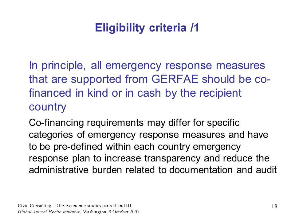 Eligibility criteria /1