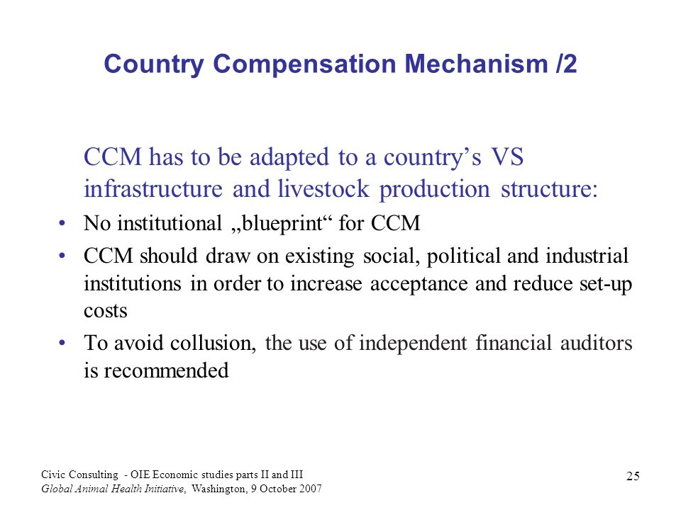 Country Compensation Mechanism /2