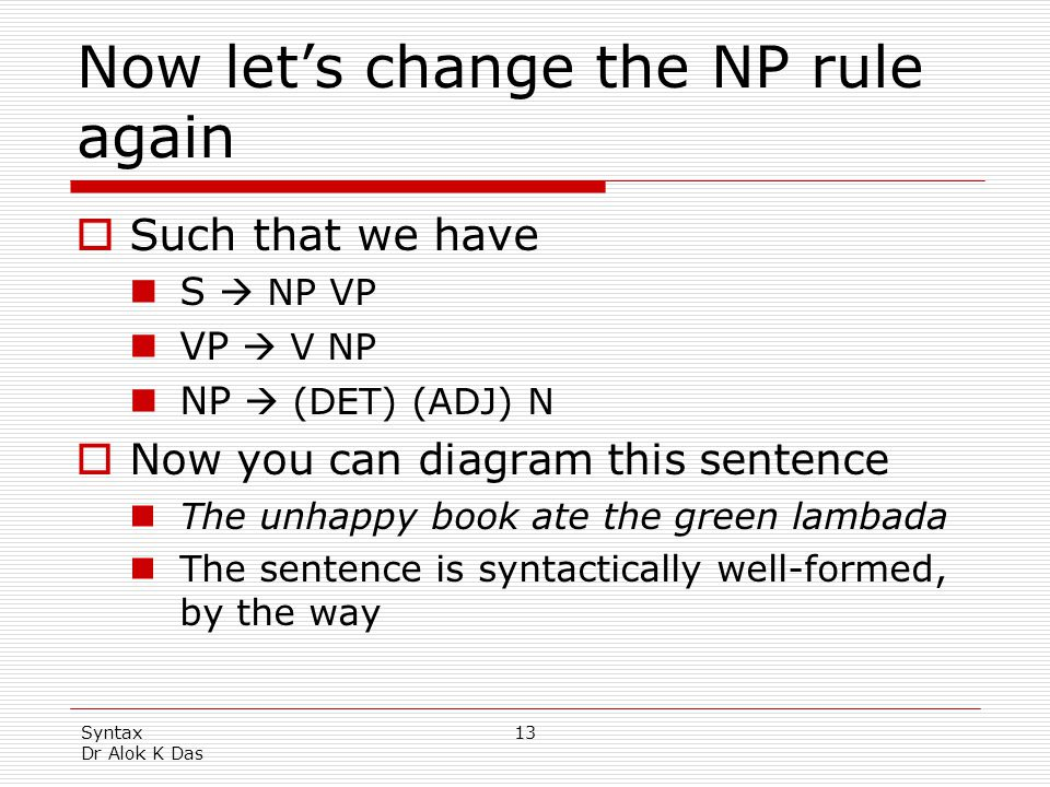Now let's change the NP rule again