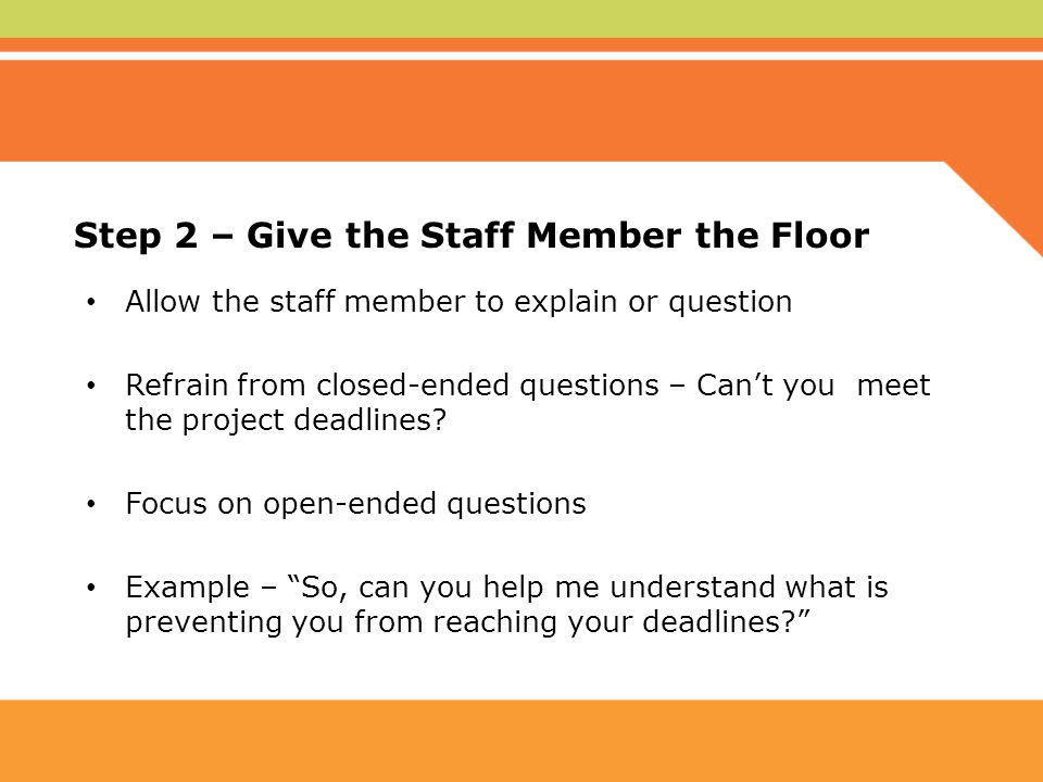 Classified staff performance appraisal ppt video online for Give the floor