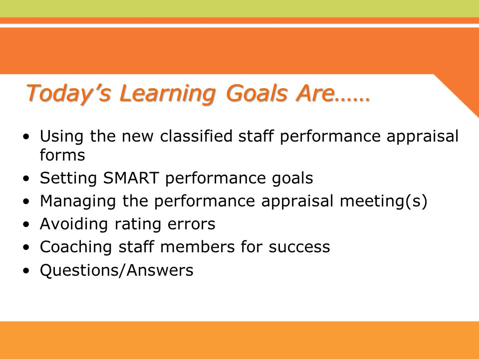 classified staff performance appraisal