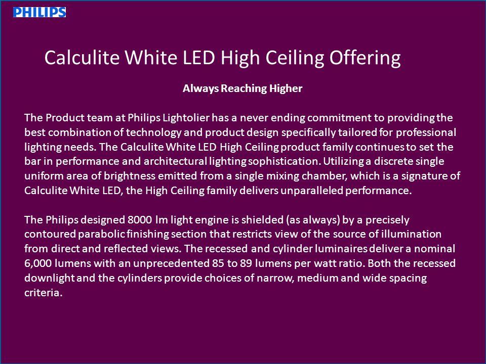 2 Always Reaching Higher  sc 1 st  SlidePlayer & Philips Lightolier Calculite LED High Ceiling Family - ppt video ... azcodes.com