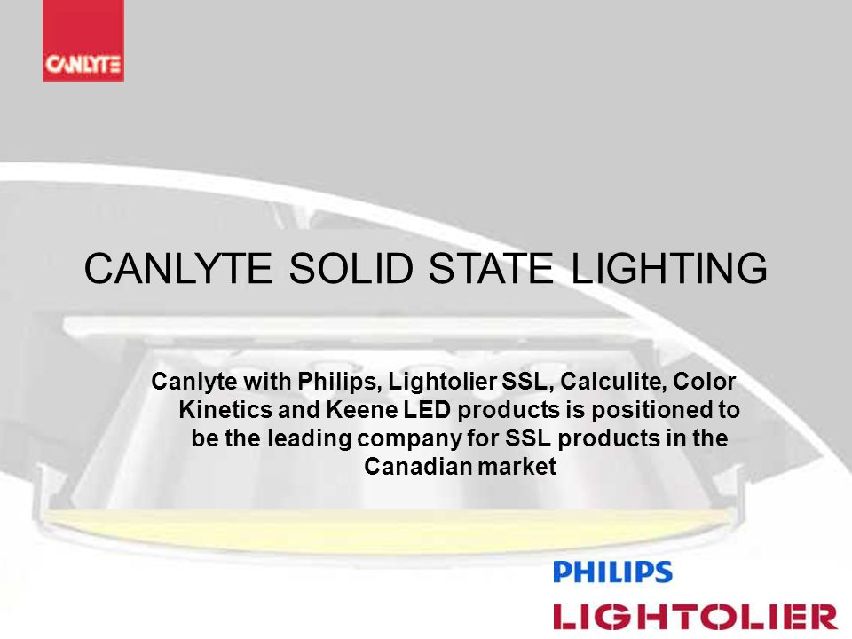 CANLYTE SOLID STATE LIGHTING  sc 1 st  SlidePlayer & CANLYTE SOLID STATE LIGHTING - ppt video online download