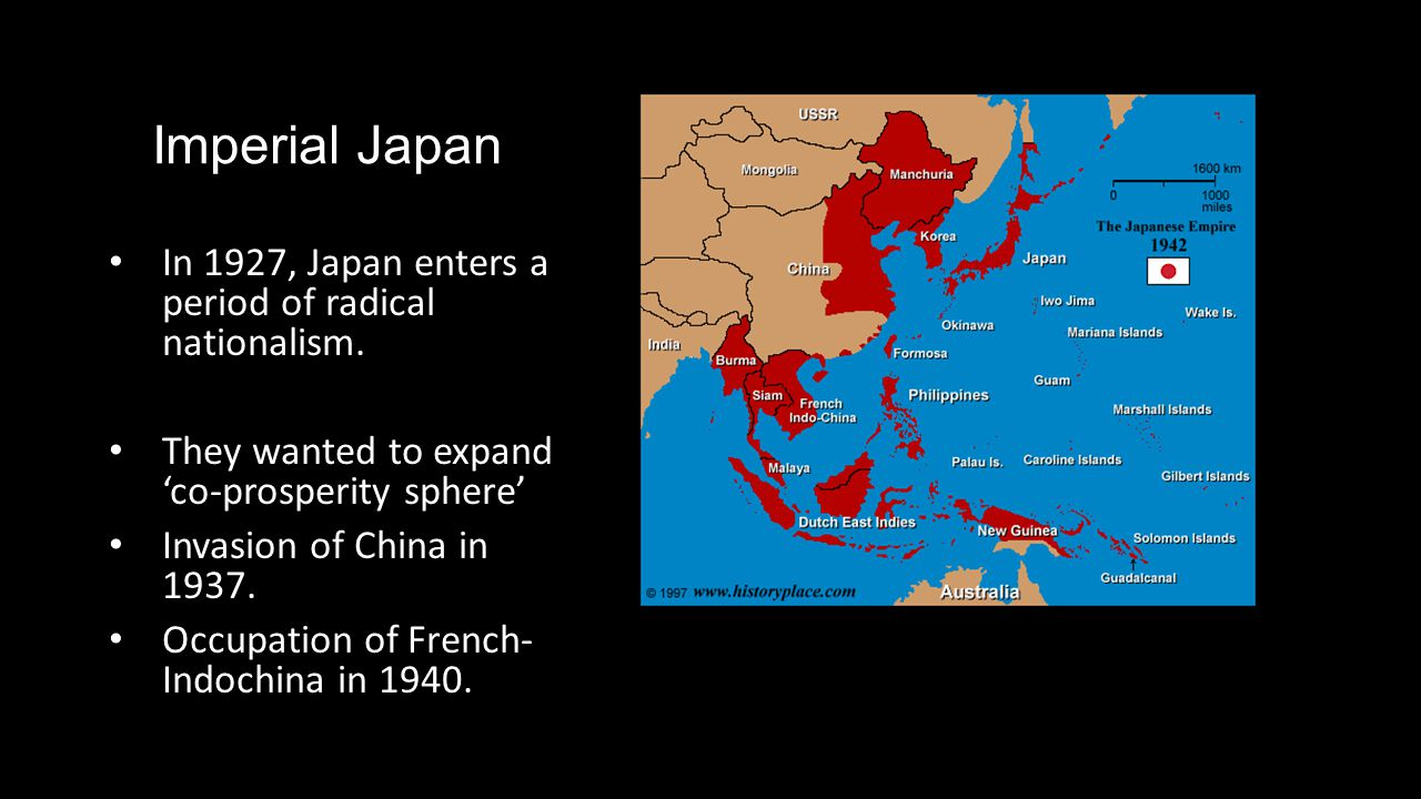 Imperial Japan In 1927, Japan enters a period of radical nationalism.