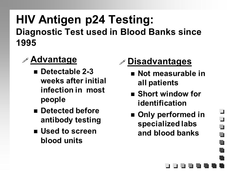 Hiv aids update for health care workers ppt download - Test hiv p24 periodo finestra ...