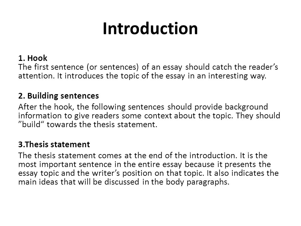 first sentence of a essay Argumentative essay examples and  regarding the opposing side that goes far beyond a single sentence or a  to want to pick a topic first,.