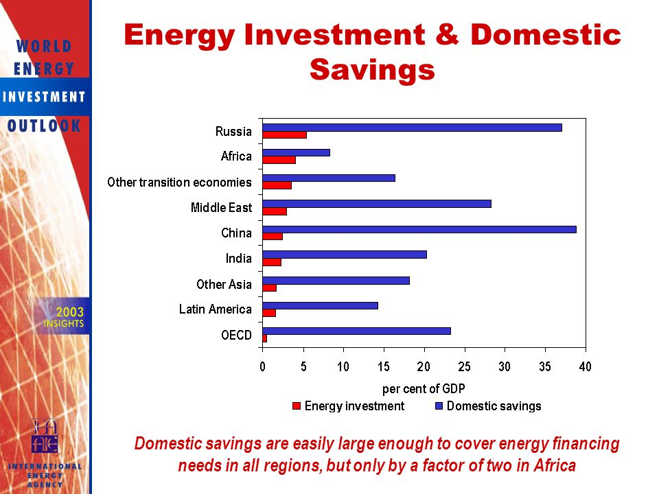 Energy Investment & Domestic Savings